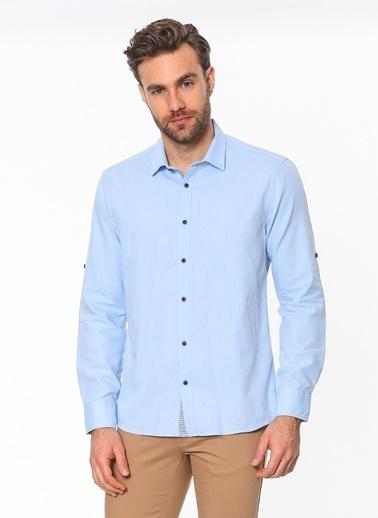 Cazador Slim Fit Uzun Kollu Gömlek Renkli